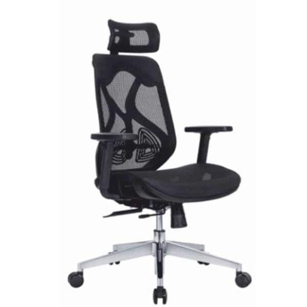 zoner black mesh chair
